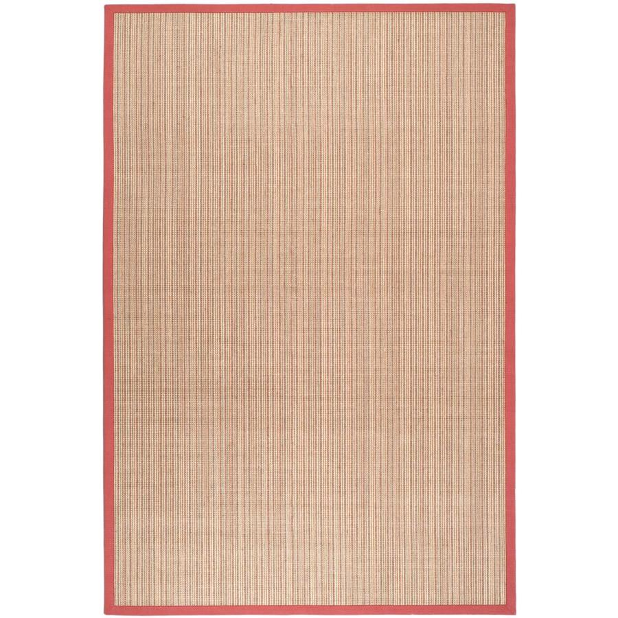 Safavieh Natural Fiber Groves Rust/Rust Rectangular Indoor Machine-made Coastal Area Rug (Common: 6 x 9; Actual: 6-ft W x 9-ft L)