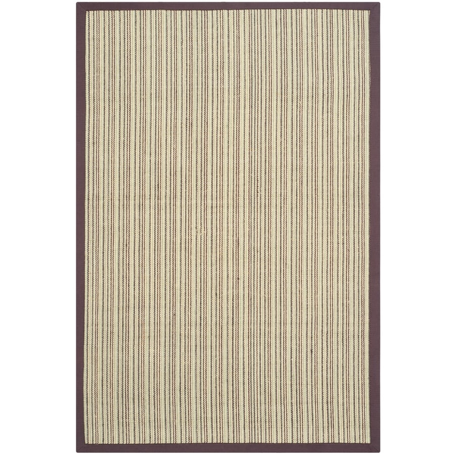 Safavieh Natural Fiber Blue and Purple Rectangular Indoor Machine-Made Coastal Throw Rug (Common: 3 x 5; Actual: 3-ft W x 5-ft L)