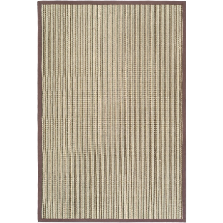 Safavieh Natural Fiber Groves Blue/Purple Rectangular Indoor Machine-made Coastal Area Rug (Common: 6 x 9; Actual: 6-ft W x 9-ft L)