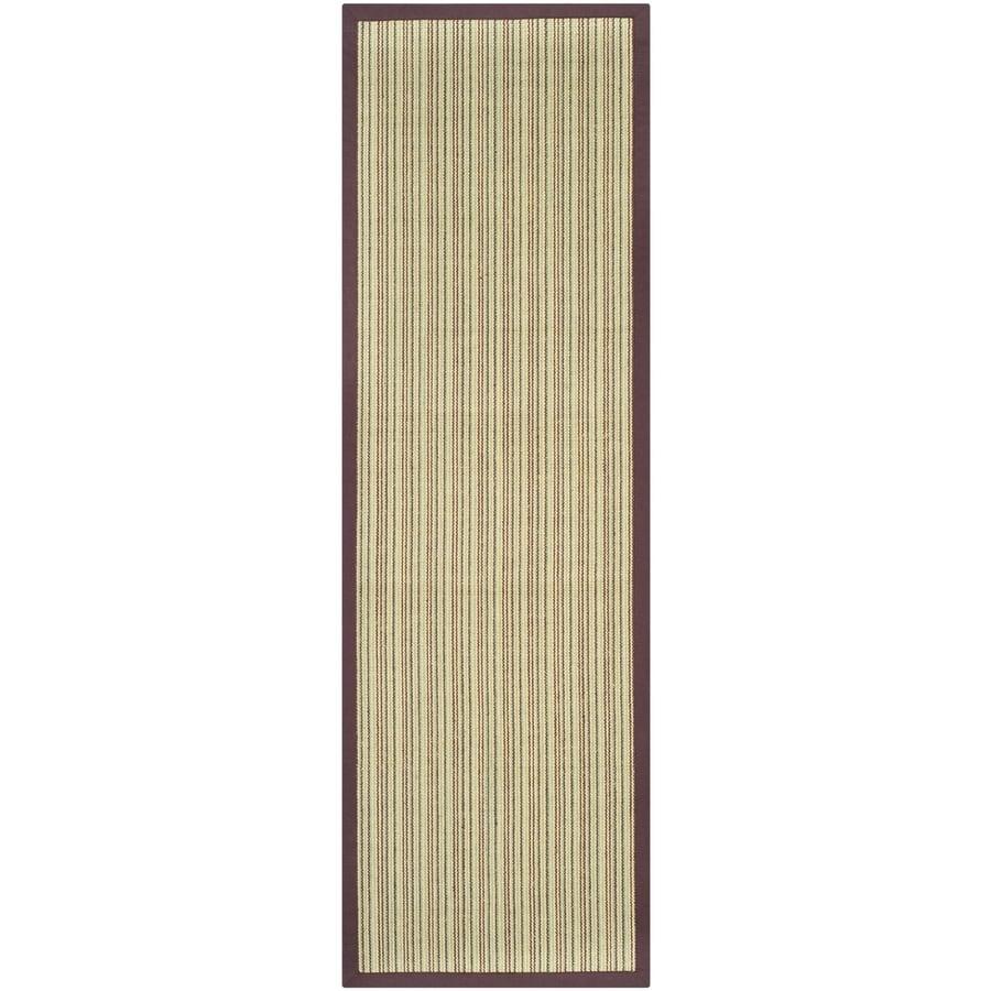 Safavieh Natural Fiber Groves Blue/Purple Indoor Coastal Runner (Common: 2 x 8; Actual: 2.5-ft W x 8-ft L)