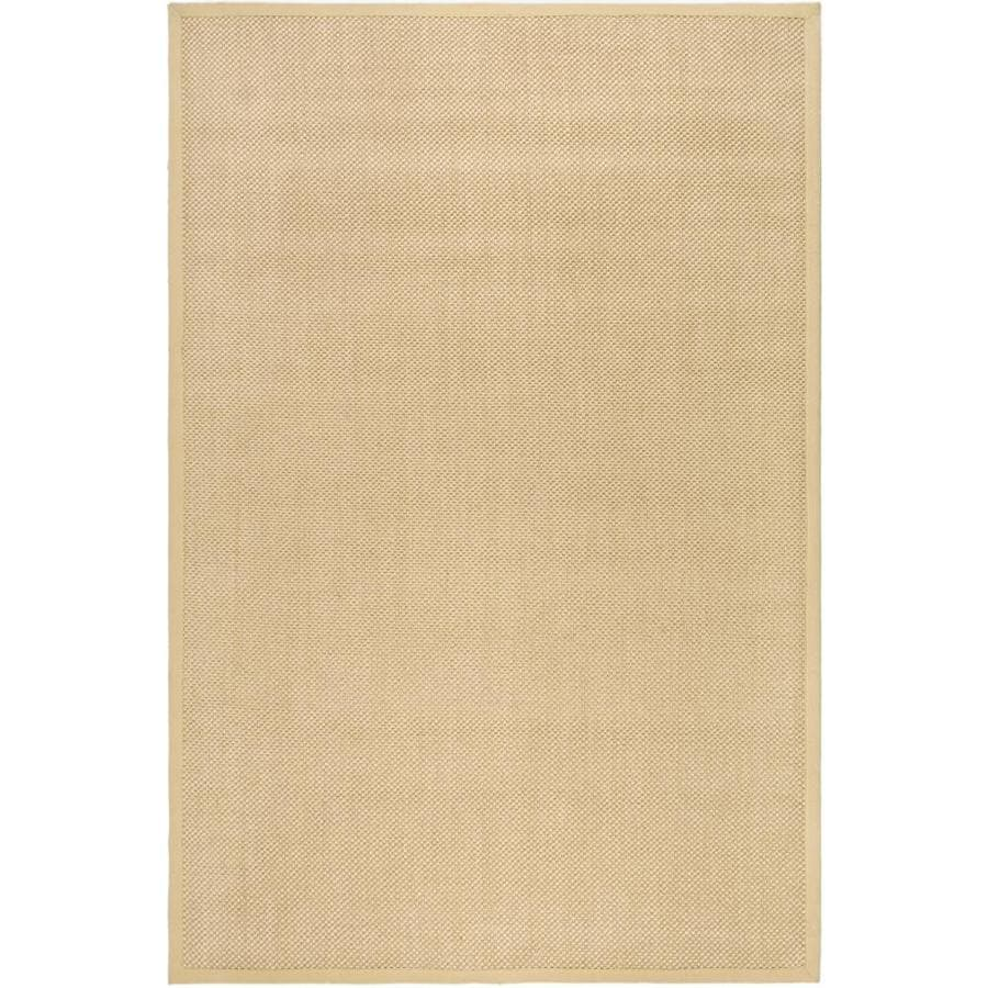 Safavieh Natural Fiber Kismet Maize/Wheat Indoor Coastal Area Rug (Common: 6 x 9; Actual: 6-ft W x 9-ft L)