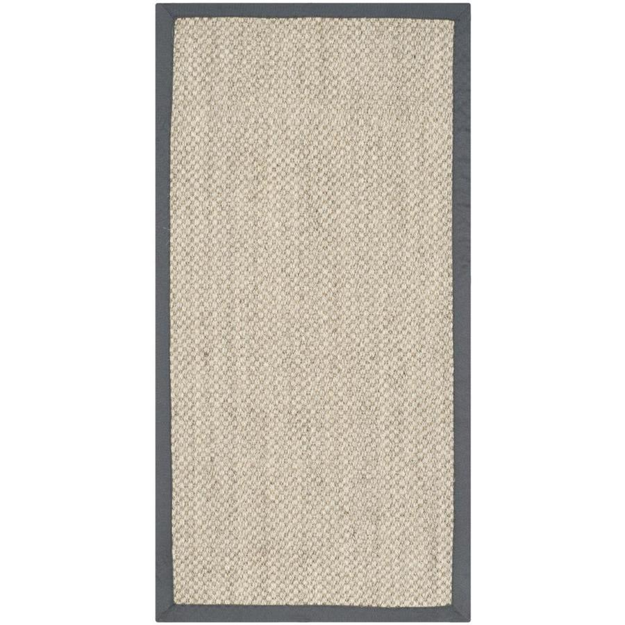 Safavieh Natural Fiber Kismet Marble/Gray Indoor Coastal Throw Rug (Common: 3 x 5; Actual: 3-ft W x 5-ft L)