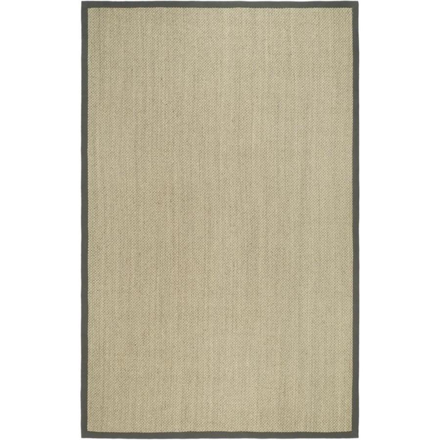 Safavieh Natural Fiber Kismet Marble/Gray Indoor Coastal Area Rug (Common: 6 x 9; Actual: 6-ft W x 9-ft L)