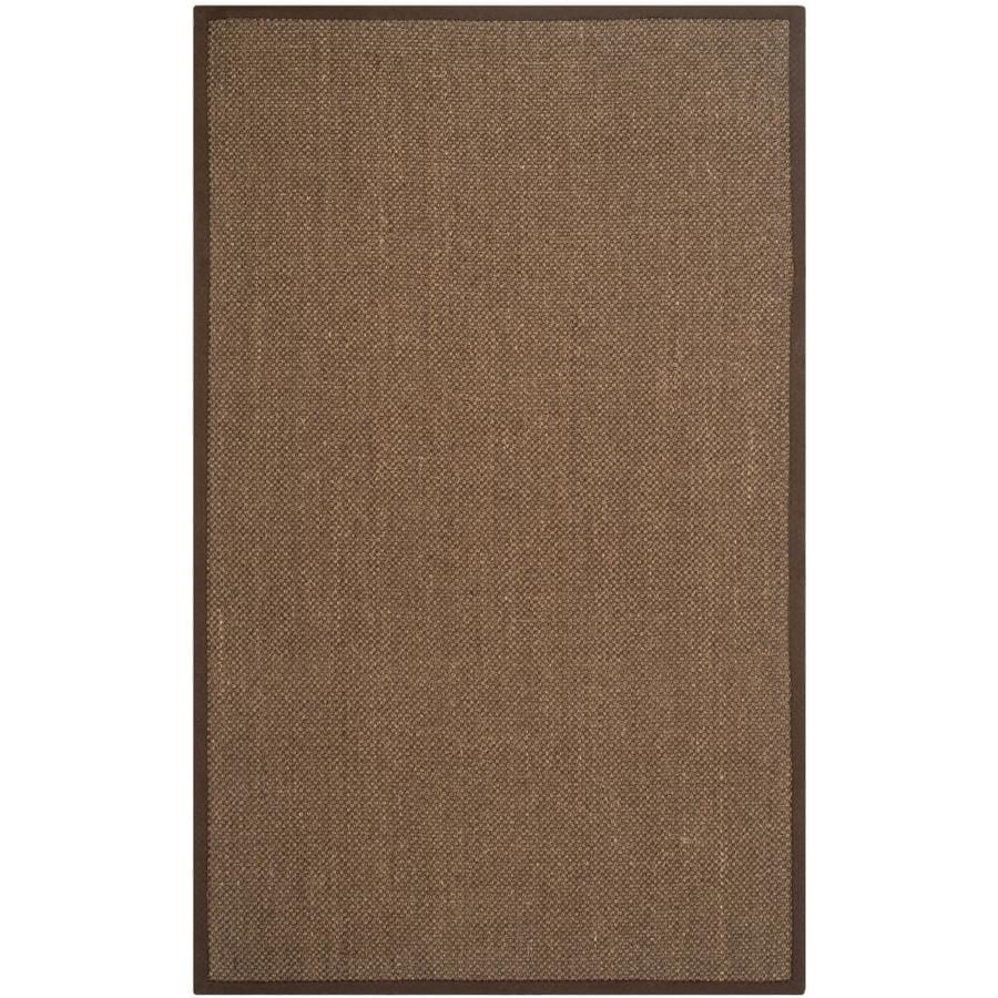 Safavieh Natural Fiber Kismet Brown/Brown Indoor Coastal Area Rug (Common: 4 x 6; Actual: 4-ft W x 6-ft L)
