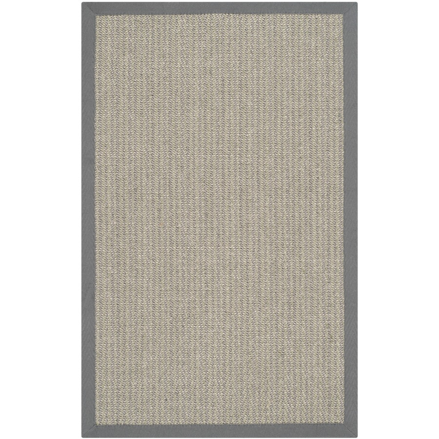 Safavieh Natural Fiber Atlantique Gray Brown/Gray Rectangular Indoor Machine-made Coastal Throw Rug (Common: 3 x 5; Actual: 3-ft W x 5-ft L)