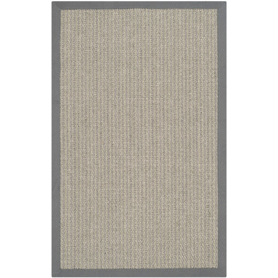 Safavieh Natural Fiber Atlantique Gray Brown/Gray Indoor Coastal Throw Rug (Common: 3 x 5; Actual: 3-ft W x 5-ft L)