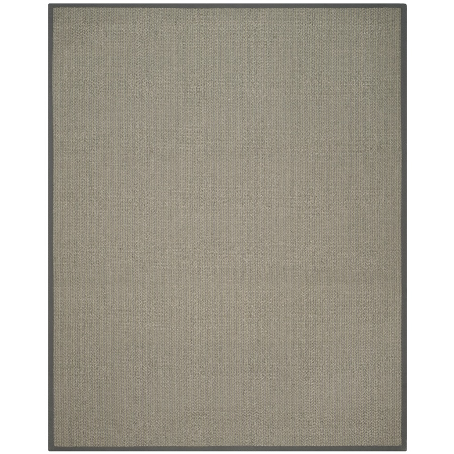 Safavieh Natural Fiber Atlantique Gray Brown/Gray Indoor Coastal Area Rug (Common: 6 x 9; Actual: 6-ft W x 9-ft L)