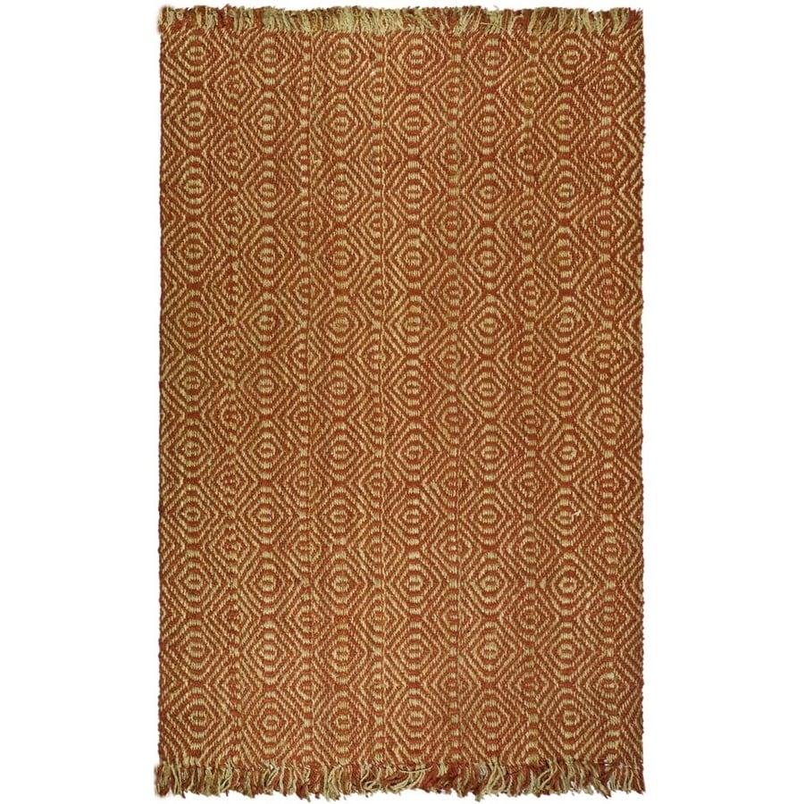 Safavieh Natural Fiber Rust Rectangular Indoor Machine-Made Coastal Area Rug (Common: 6 x 9; Actual: 6-ft W x 9-ft L)