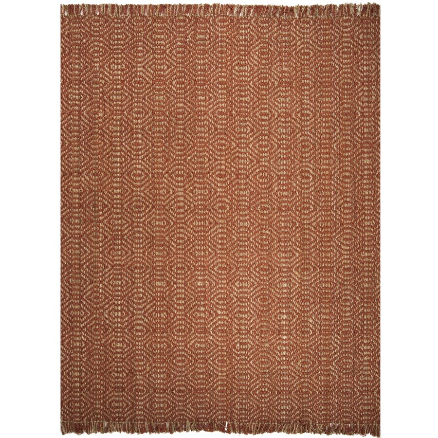Safavieh Natural Fiber Dunewood Rust Rectangular Indoor Handcrafted Coastal Area Rug (Common: 8 x 10; Actual: 8-ft W x 10-ft L)