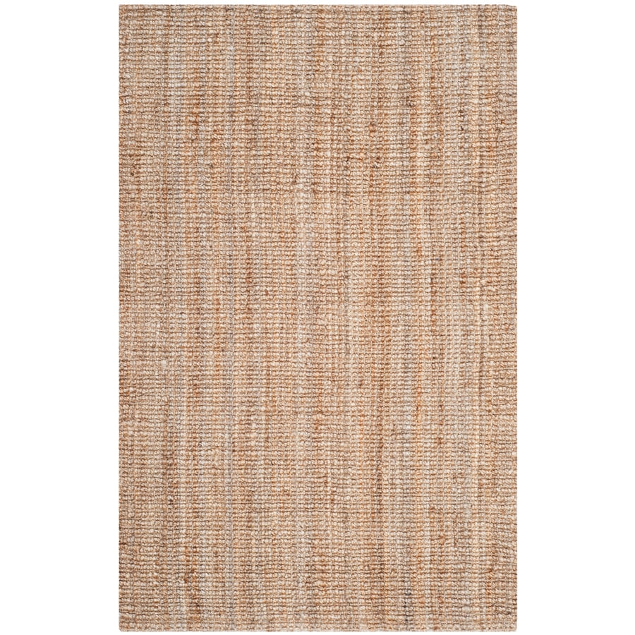Safavieh Natural Fiber Natural Rectangular Indoor Woven Coastal Area Rug (Common: 4 x 6; Actual: 4-ft W x 5-ft L)