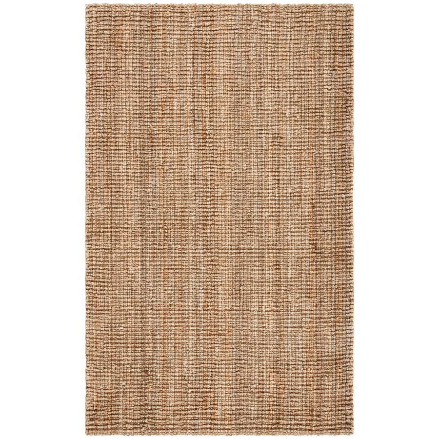 Safavieh Natural Fiber Natural Rectangular Indoor Woven Coastal Area Rug (Common: 6 x 9; Actual: 6-ft W x 9-ft L x 0-ft Dia)