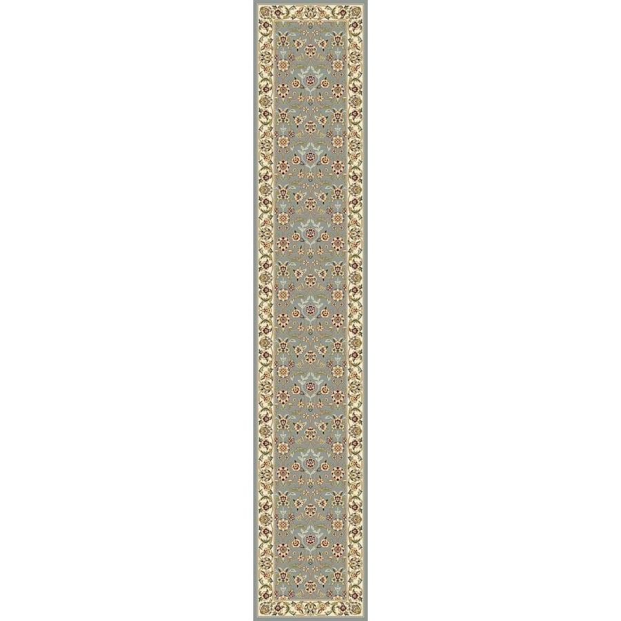 Safavieh Lyndhurst Qum Light Blue/Ivory Rectangular Indoor Machine-made Oriental Runner (Common: 2 x 16; Actual: 2.25-ft W x 16-ft L)