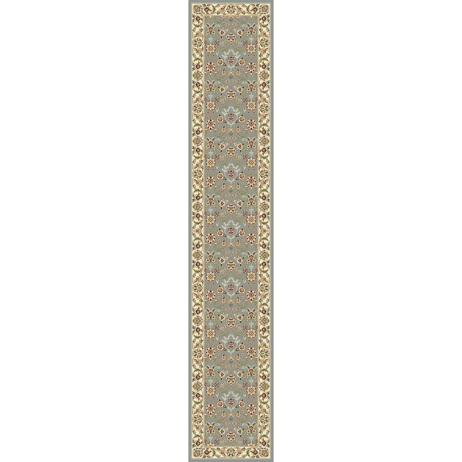 Safavieh Lyndhurst Qum Light Blue/Ivory Rectangular Indoor Machine-made Oriental Runner (Common: 2 x 22; Actual: 2.25-ft W x 22-ft L)