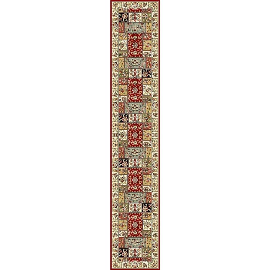 Safavieh Lyndhurst Omni Multi/Ivory Rectangular Indoor Machine-made Oriental Runner (Common: 2 x 16; Actual: 2.25-ft W x 16-ft L)