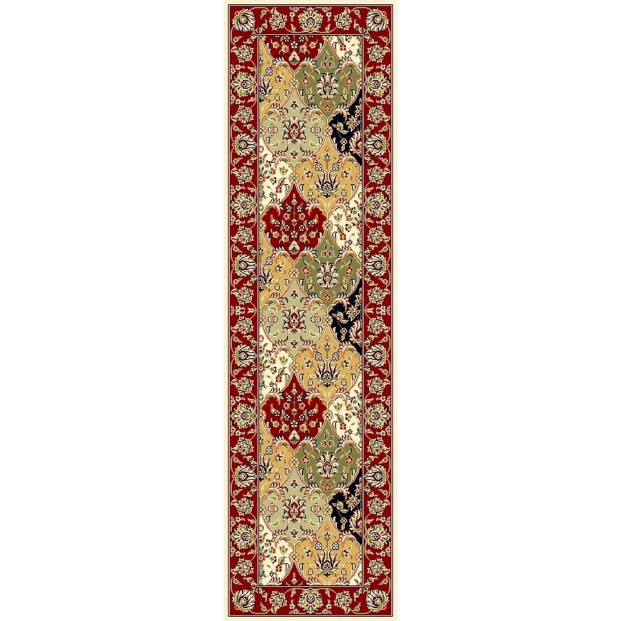 Safavieh Lyndhurst Fusion Red Indoor Oriental Runner (Common: 2 x 22; Actual: 2.25-ft W x 22-ft L)