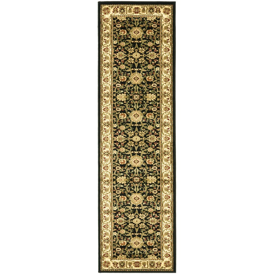 Safavieh Lyndhurst Sarouk Black/Ivory Indoor Oriental Runner (Common: 2 x 16; Actual: 2.25-ft W x 16-ft L)