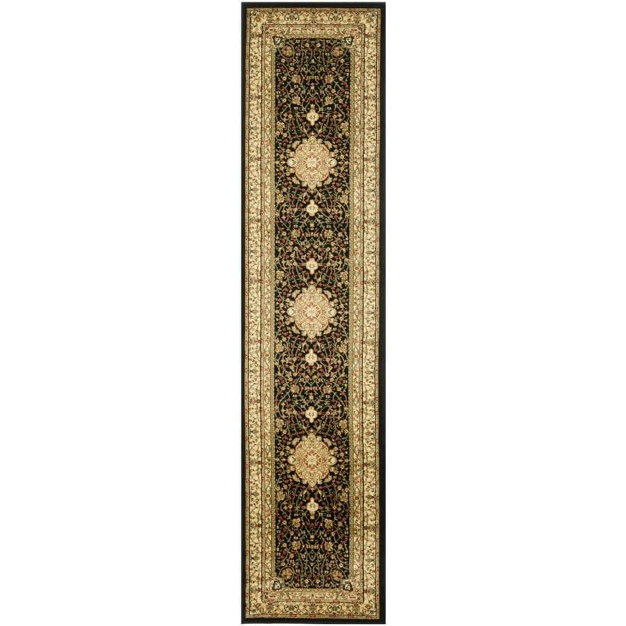Safavieh Lyndhurst Tabriz Black/Ivory Rectangular Indoor Machine-made Oriental Runner (Common: 2 x 16; Actual: 2.25-ft W x 16-ft L)