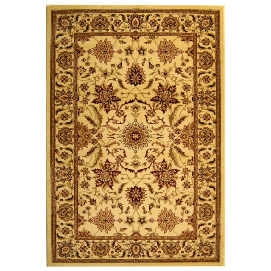 Safavieh Lyndhurst Ivory and Ivory Rectangular Indoor Machine-Made Runner (Common: 2 x 16; Actual: 27-in W x 192-in L x 0.5-ft Dia)