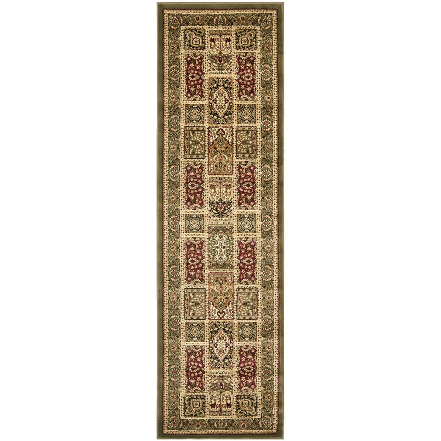 Safavieh Lyndhurst Bolero Multi/Green Rectangular Indoor Machine-made Oriental Runner (Common: 2 x 16; Actual: 2.25-ft W x 16-ft L)