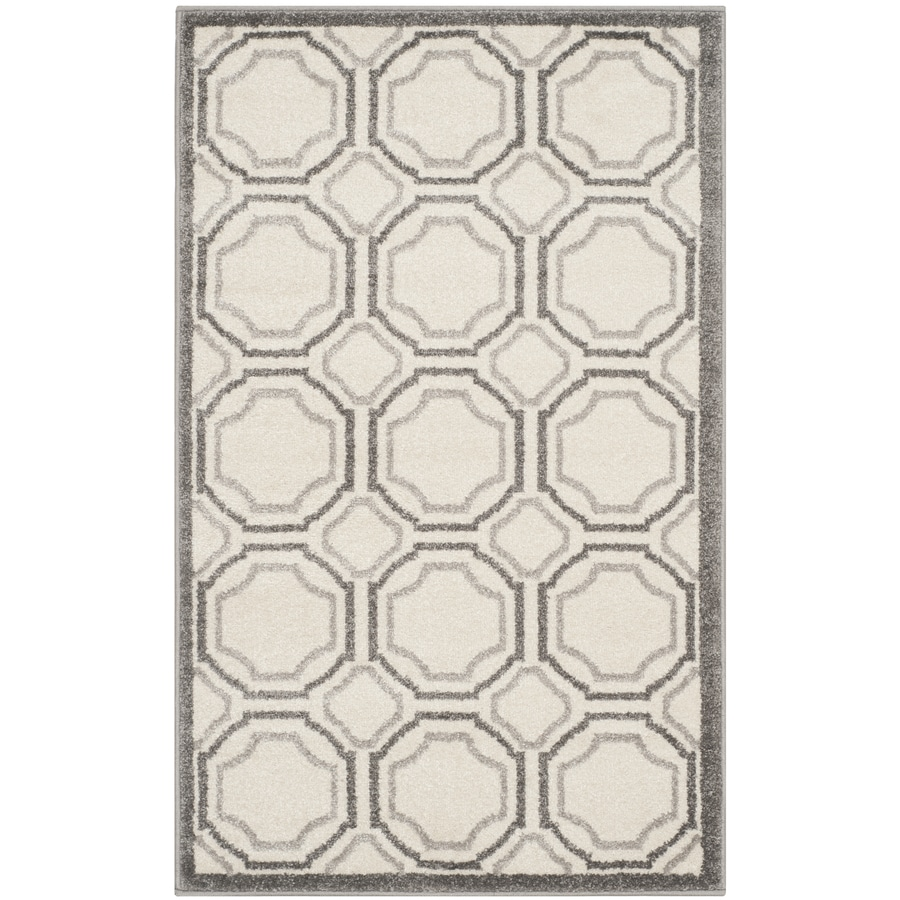 Safavieh Amherst Mosaic Ivory/Light Gray Indoor/Outdoor Moroccan Throw Rug (Common: 2 x 4; Actual: 2.5-ft W x 4-ft L)