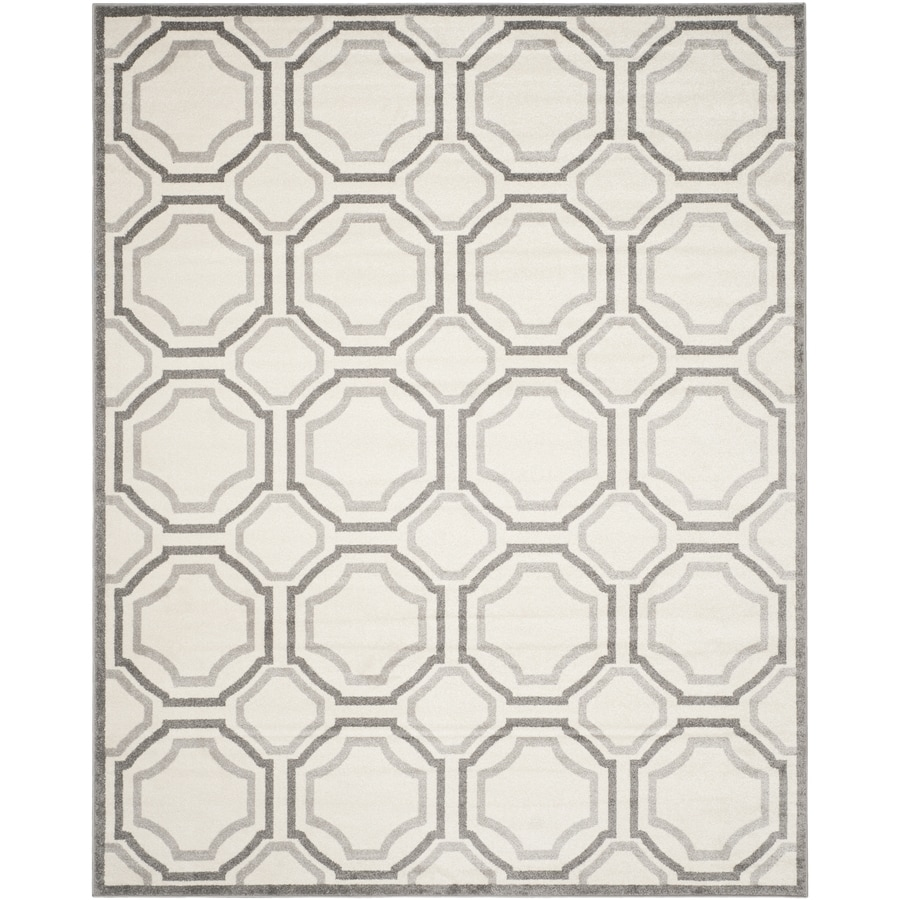 Safavieh Amherst Mosaic Ivory/Light Gray Indoor/Outdoor Moroccan Area Rug (Common: 9 x 12; Actual: 9-ft W x 12-ft L)