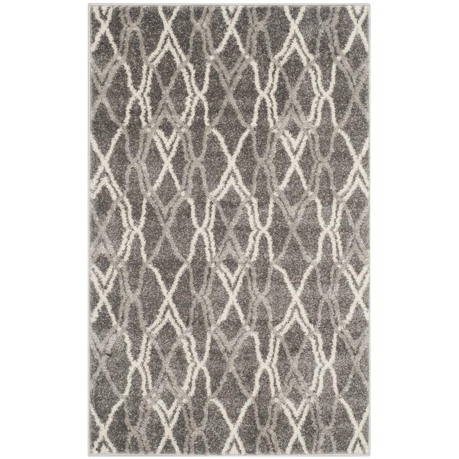 Safavieh Amherst Grey Rectangular Indoor/Outdoor Machine-Made Throw Rug