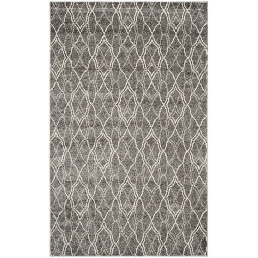 Safavieh Amherst Cedarhurst Gray/Light Gray Indoor/Outdoor Moroccan Area Rug (Common: 4 x 6; Actual: 4-ft W x 6-ft L)