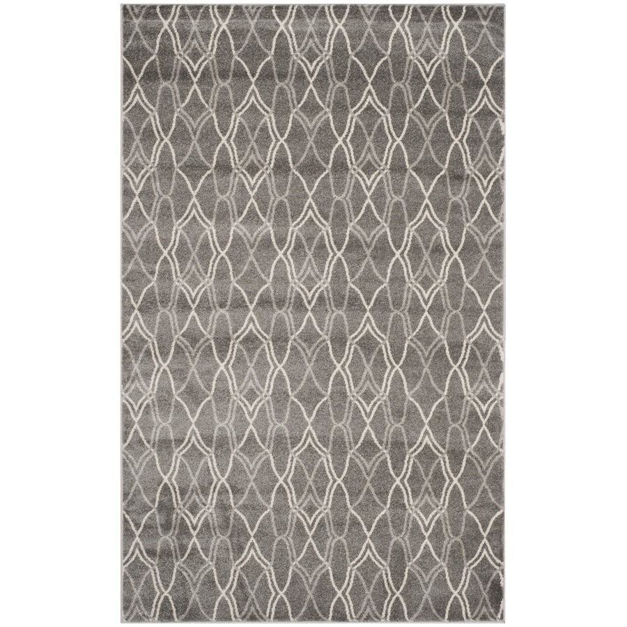 Safavieh Amherst Cedarhurst Gray/Light Gray Rectangular Indoor/Outdoor Machine-made Moroccan Area Rug (Common: 5 x 8; Actual: 5-ft W x 8-ft L)