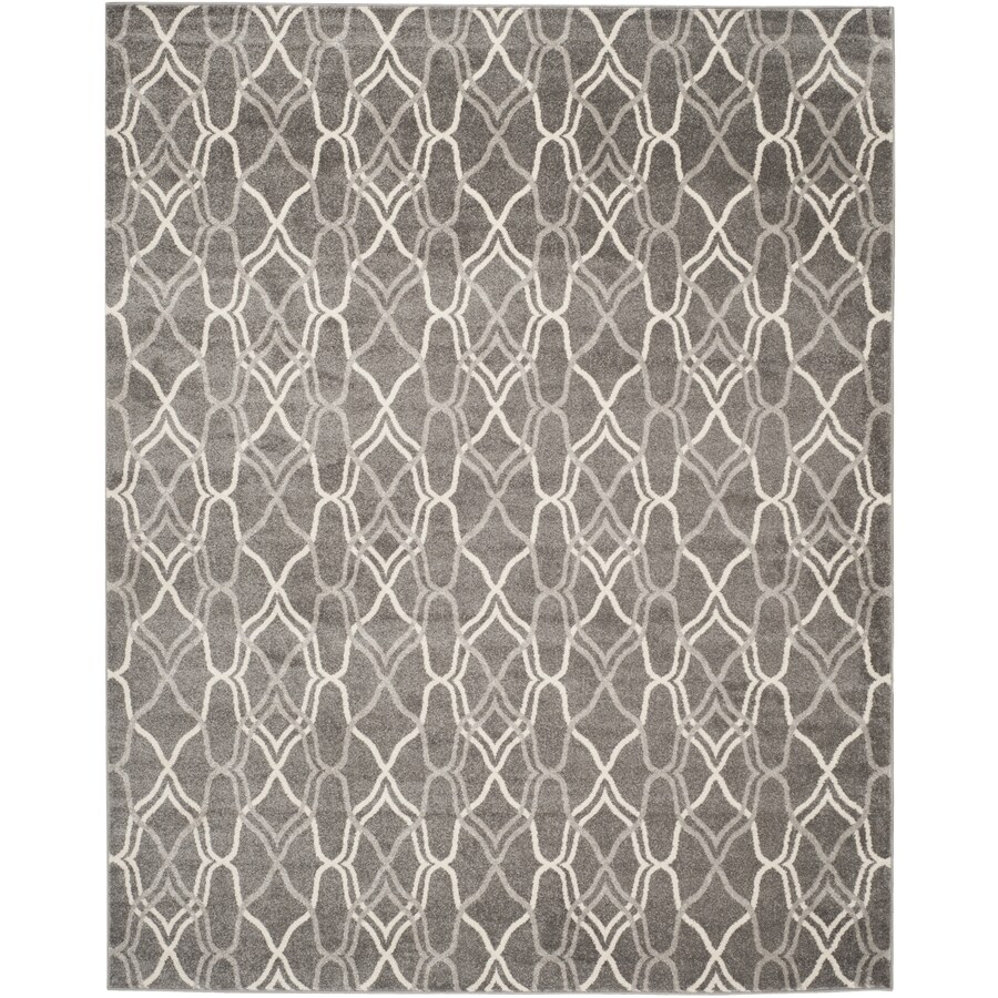 Safavieh Amherst Gray/Light Gray Rectangular Indoor/Outdoor Machine-Made Moroccan Area Rug (Common: 9 x 12; Actual: 9-ft W x 12-ft L)