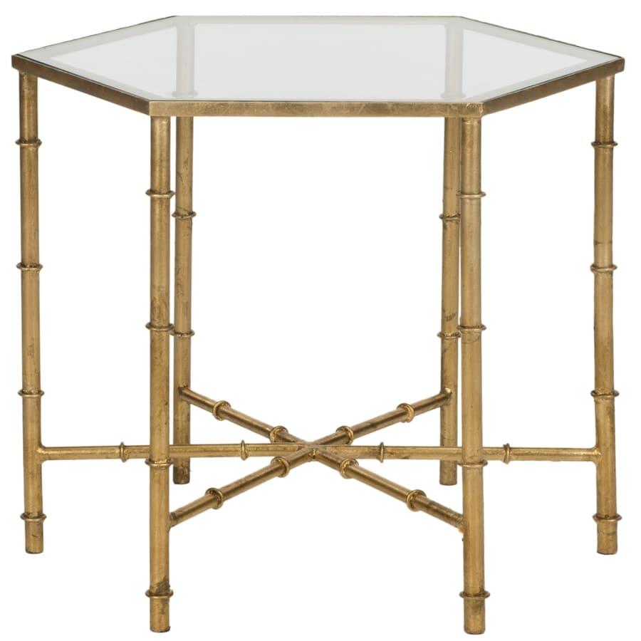 Safavieh Fox Gold/Clear Top Hexagon End Table