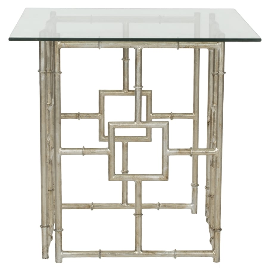 Safavieh Fox Silver/Clear Glass Top Square End Table
