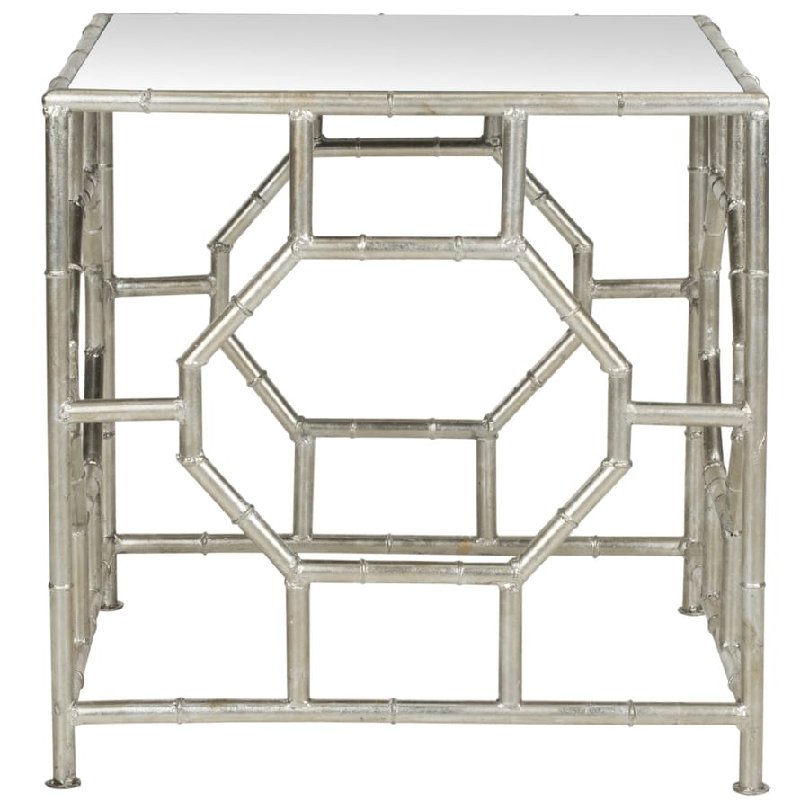 Safavieh Rory Silver/Mirror Top End Table