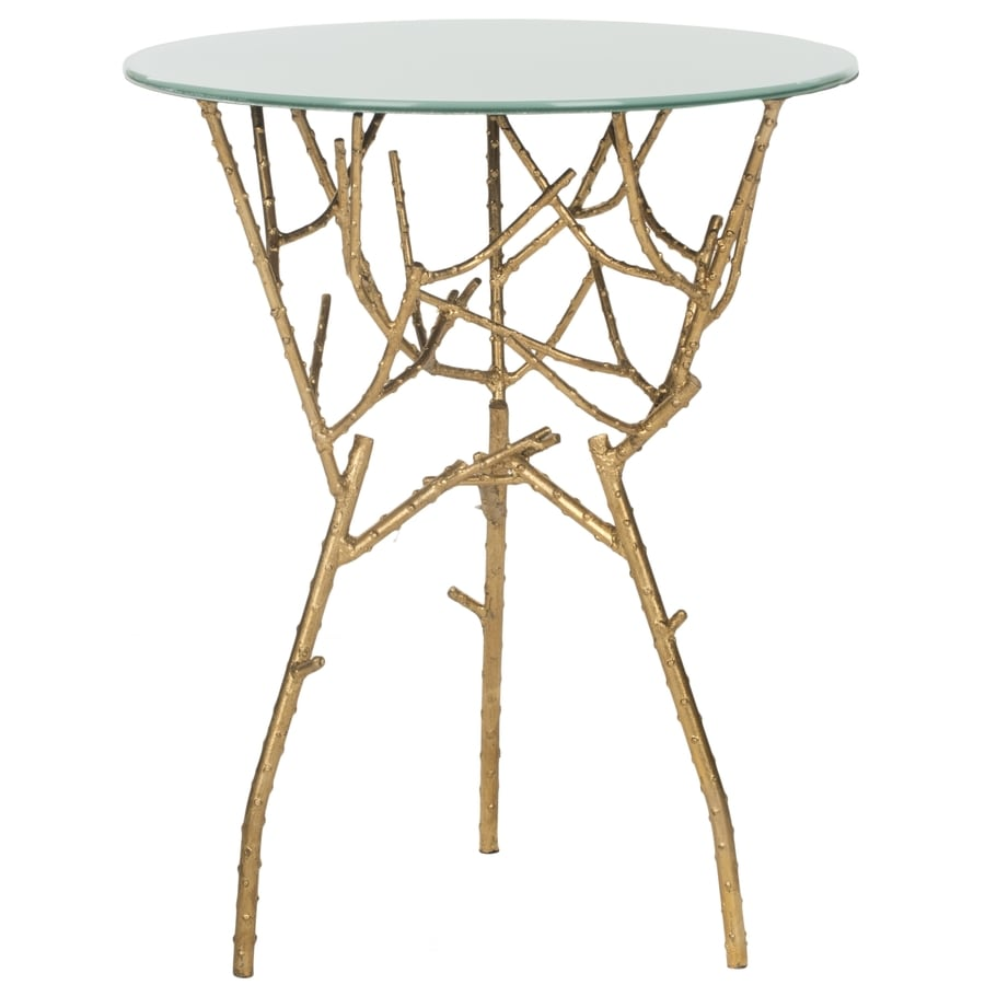 Safavieh Fox Gold/White Round Console and Sofa Table