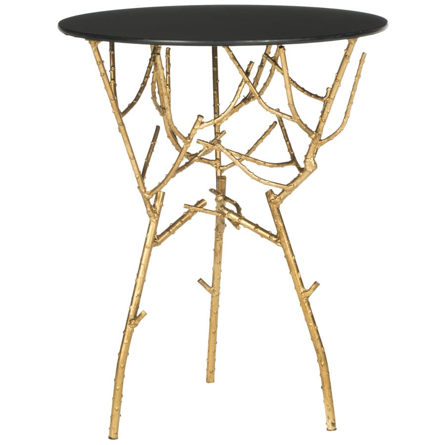 Safavieh Fox Gold/Black Round Console and Sofa Table