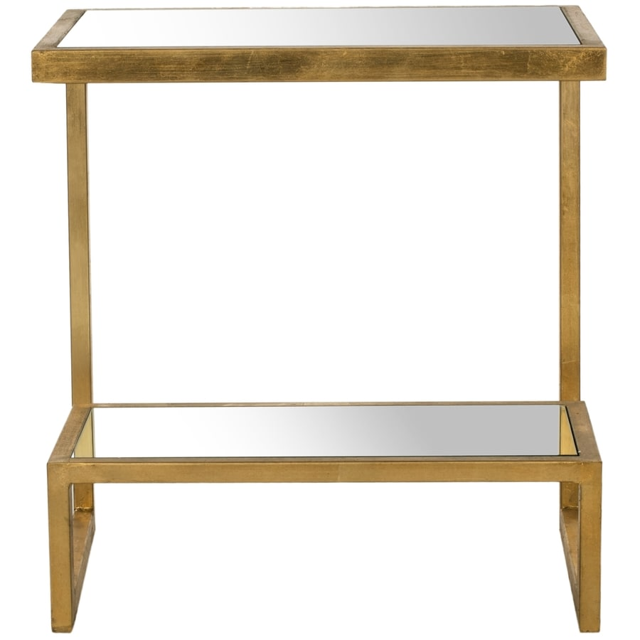 Safavieh Kennedy Gold/Mirror Top End Table