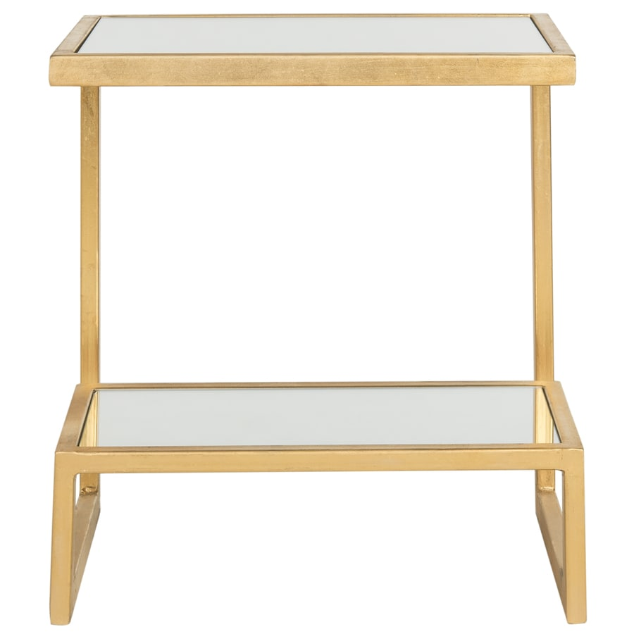 Safavieh Kennedy Gold/White Glass Top End Table