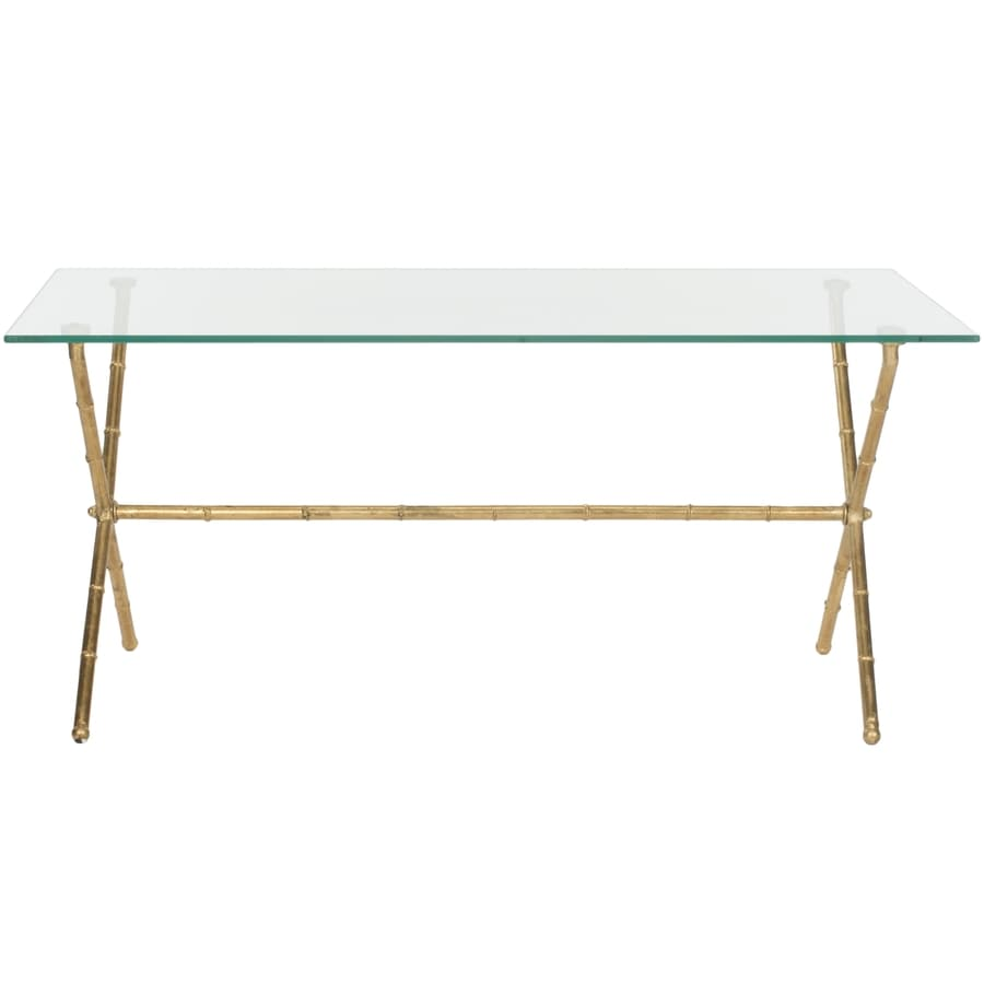 Safavieh Brogen Gold/Clear Glass Top End Table