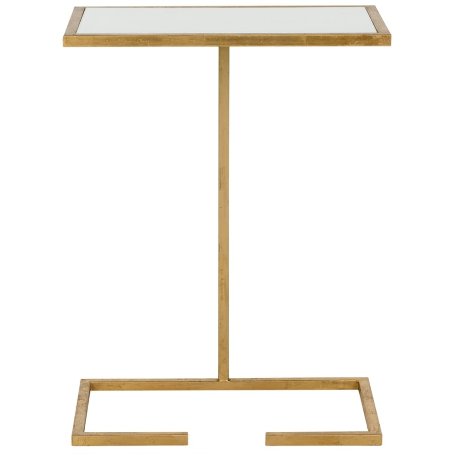 Safavieh Neil Gold/White Glass Top End Table