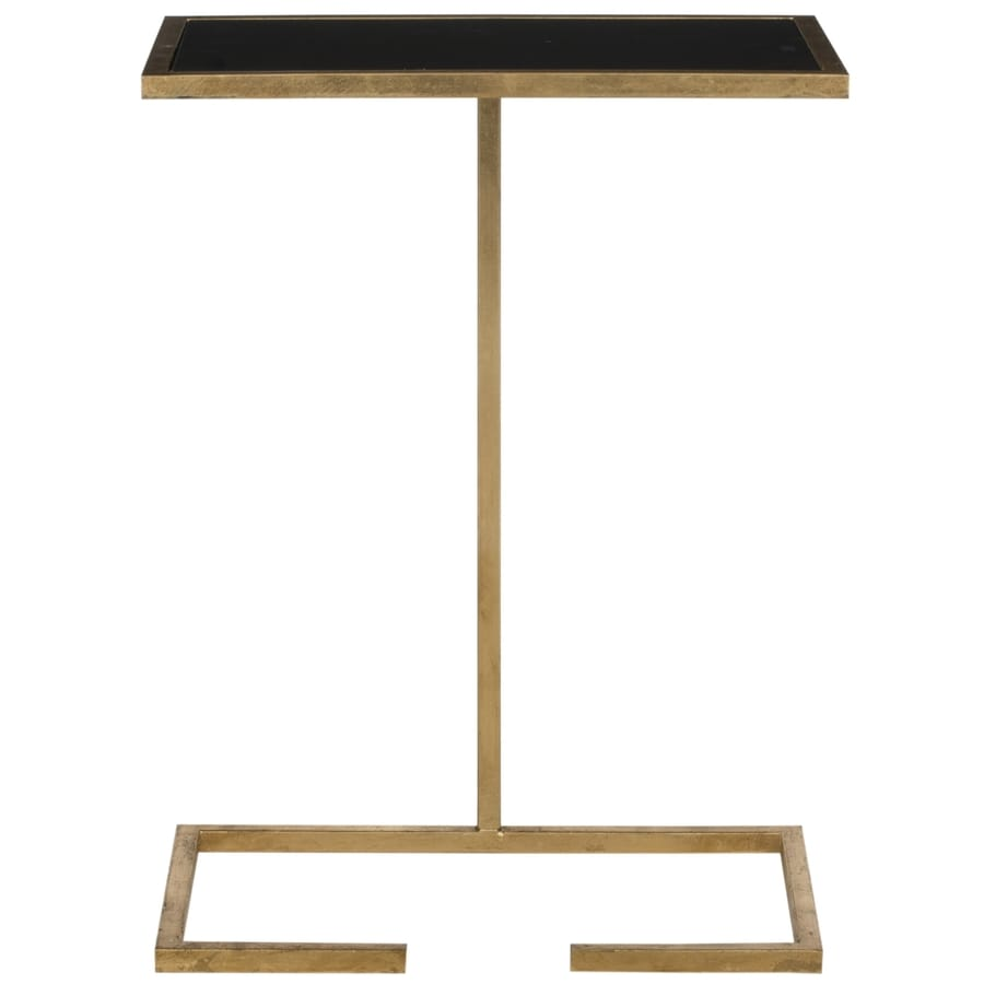 Safavieh Fox Gold/Black Glass Top Rectangular End Table
