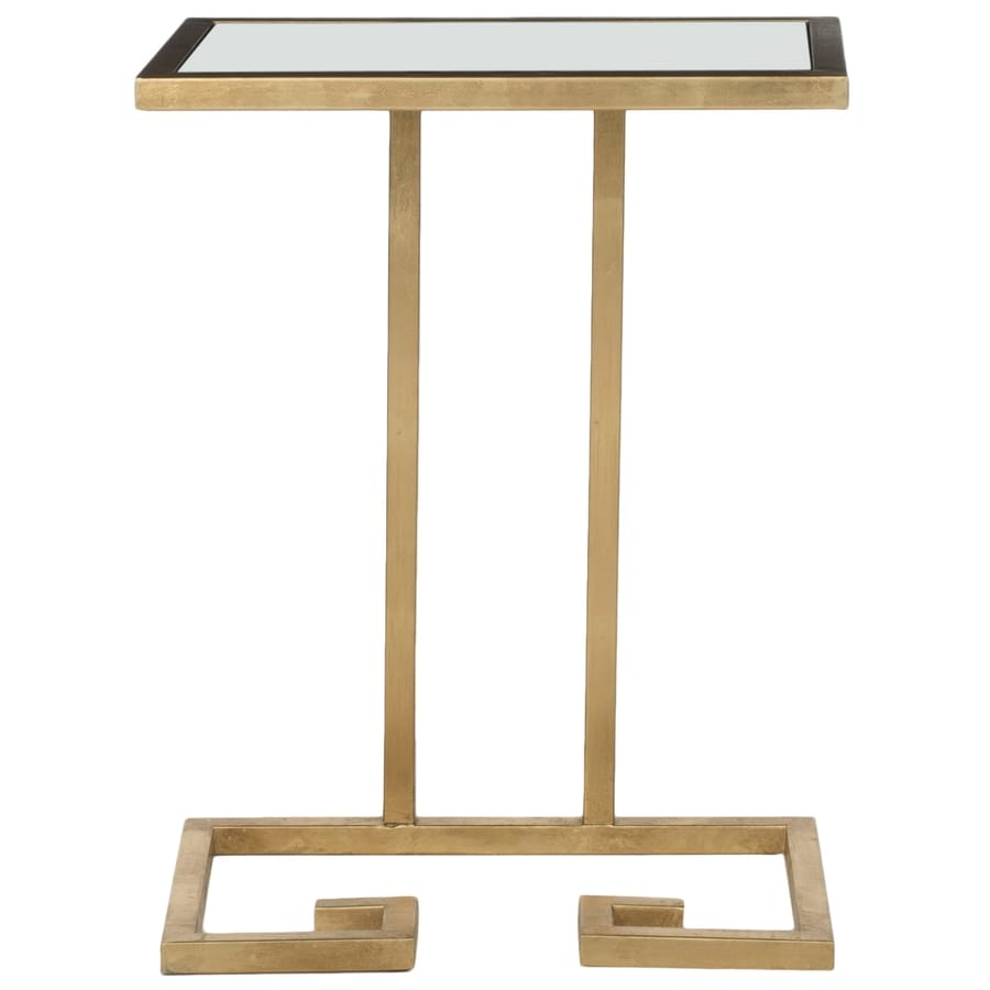 Safavieh Fox Gold/White Glass Top Rectangular End Table
