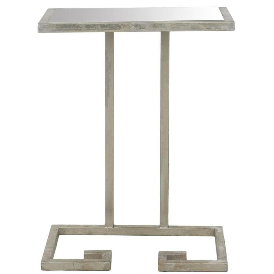 Safavieh Fox Silver/Mirror Top Rectangular End Table