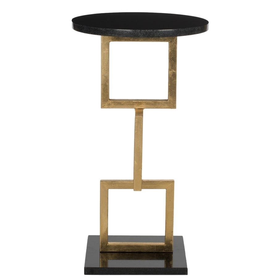 Safavieh Cassidy Gold/Black Marble Top End Table