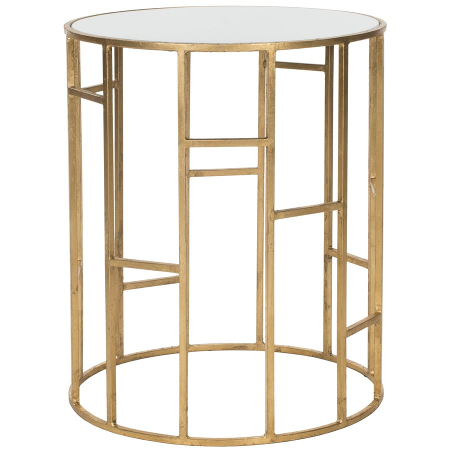 Safavieh Doreen Gold/White Glass Top End Table