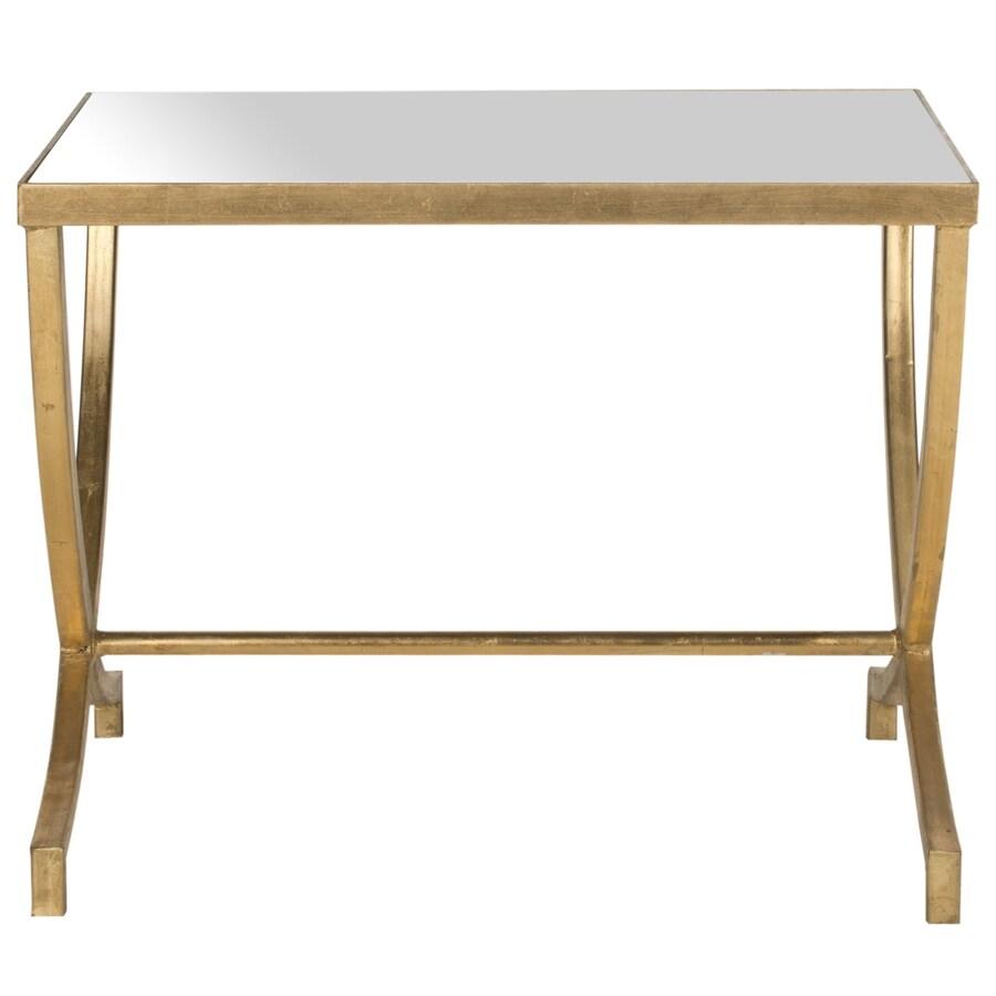 Safavieh Maureen Gold/Mirror Top End Table
