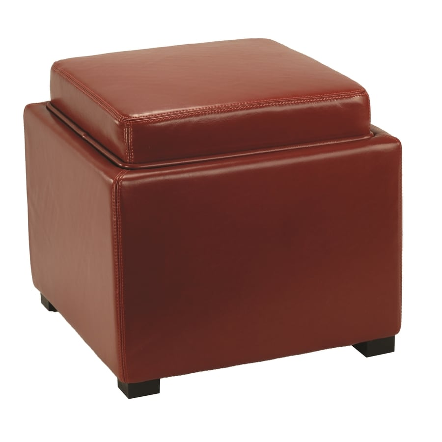 Safavieh Hudson Collection Red Square Storage Ottoman