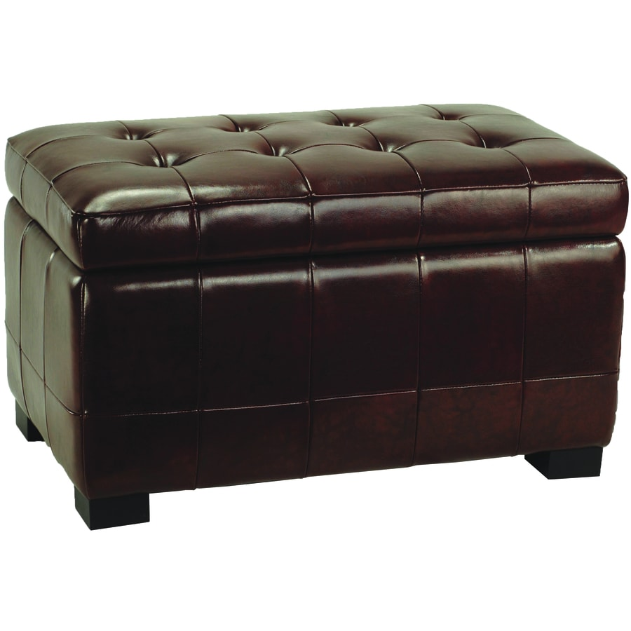 Ordinaire Safavieh Small Manhattan Casual Cordovan Faux Leather Storage Ottoman