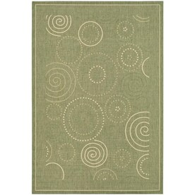 Courtyard Circles Modern Contemporary Rugs At Lowes Com