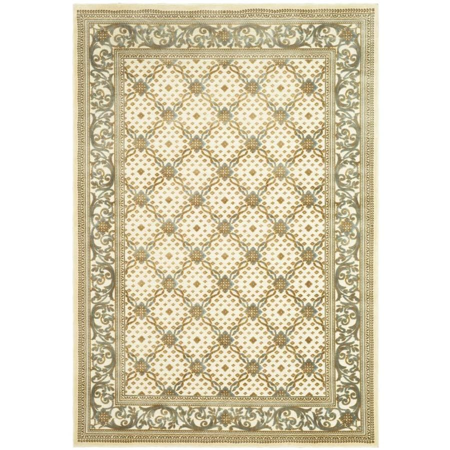 Safavieh Paradise Lucerne Crme Rectangular Indoor Machine-made Oriental Area Rug (Common: 8 x 11; Actual: 8-ft W x 11.167-ft L)