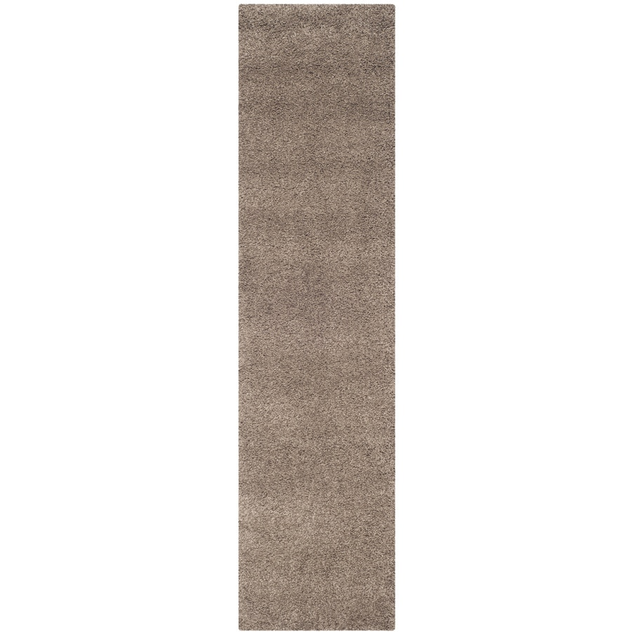 Safavieh California Shag Taupe Indoor Runner (Common: 2 x 11; Actual: 2.25-ft W x 11-ft L)