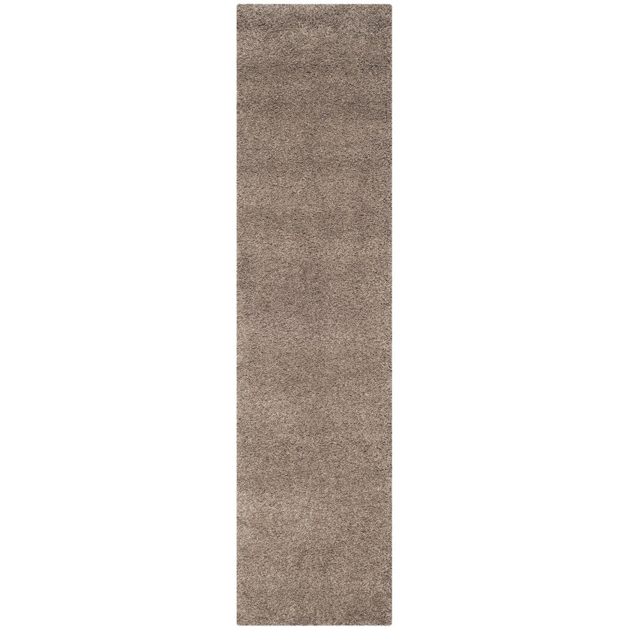 Safavieh California Shag Taupe Rectangular Indoor Machine-made Runner (Common: 2 x 9; Actual: 2.25-ft W x 9-ft L)